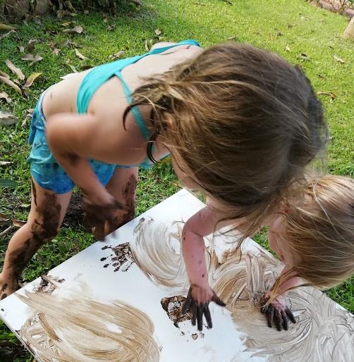 Kids Enjoying the Mud